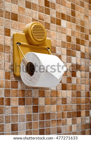 Toilet paper hang on the wall