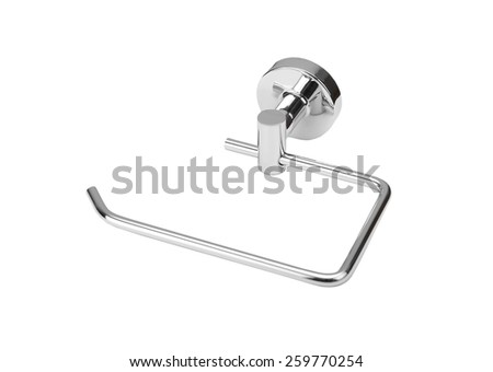 Toilet paper holder, isolated on white background - stock photo