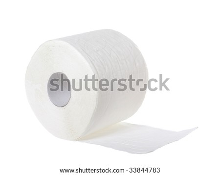 Toilet paper isolated on the white background