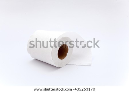 toilet paper on the white backgound, toilet paper isolation