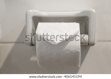 toilet paper roll - stock photo
