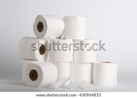 toilet paper roll with white background.