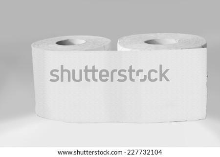 Toilet paper rolls  - stock photo