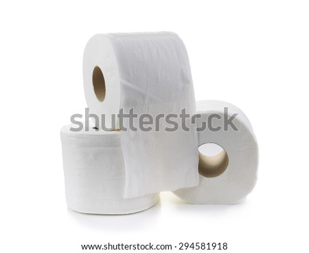 Toilet paper-Tissue paper roll - stock photo
