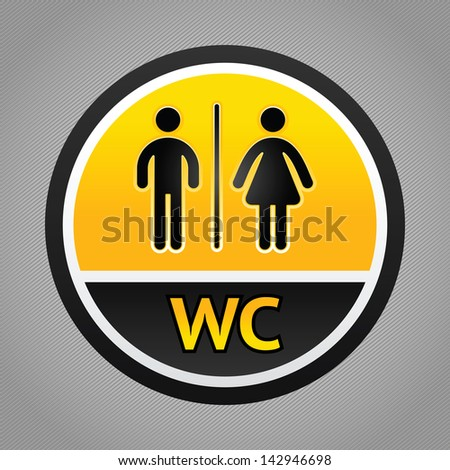 Toilet pictogram, male and female icon. Rasterized versions (copy of the my vector) - stock photo
