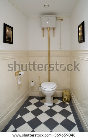 Toilet room in old style.
