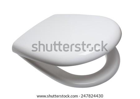 toilet seats, seat covers, toilet seat, rim, sanitary ware, toilet, WC - stock photo