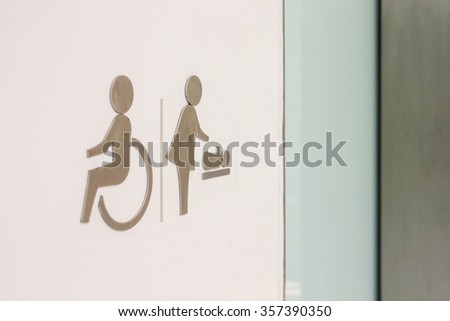 Toilet sign for Handicapped and baby - stock photo