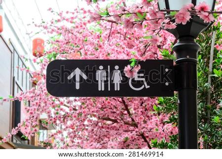 toilet signs - stock photo