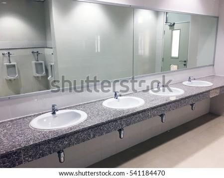 Public stock images royalty free images vectors for Public bathroom sink