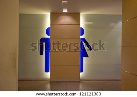 Toilet symbols for men and women. - stock photo