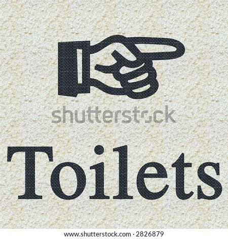 Toilets Sign - stock photo