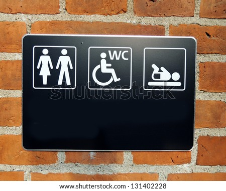toilette sign on wall