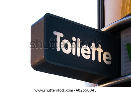 Toilette Toilet Sign German Public Outdoors Isolated White Background