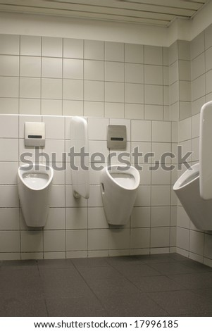 Toilette with urinals