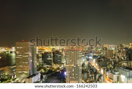 Tokyo beautiful city at night. Japan