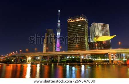 tokyo city by the river