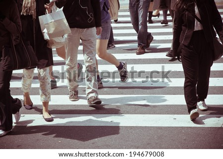 Tokyo City Commuters - stock photo
