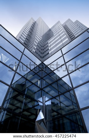TOKYO,JAPAN-CIRKA JUNE,2016:modern building abstract in the Tokyo downtown in Sinjuku district - stock photo