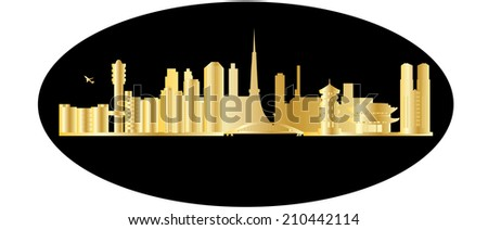 tokyo japan city skyline - stock photo