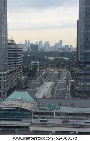 Tokyo, Japan - February 7, 2015 : Tokyo station.