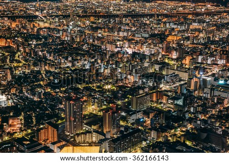 TOKYO, JAPAN - JANUARY 1: night in Tokyo as in seen from SkyTree Tower, located in Sumida, Tokyo, Japan on January 1, 2016.