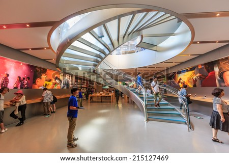 Captivating TOKYO   JUL 12: Spiral Staircase At Apple Store On Jul 12, 2014 In