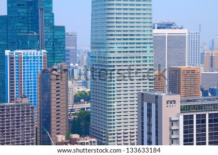 TOKYO - MAY 11: City architecture view in Roppongi district on May 11, 2012 in Tokyo, Japan. Tokyo is the capital city of Japan and the most populous metropolitan area in the world.