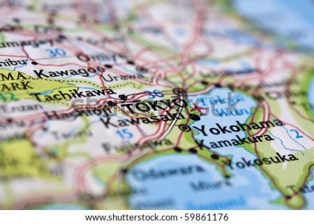 Tokyo Map Stockbilder Und Bilder Und Vektorgrafiken Ohne - Tokyo japan 3d map
