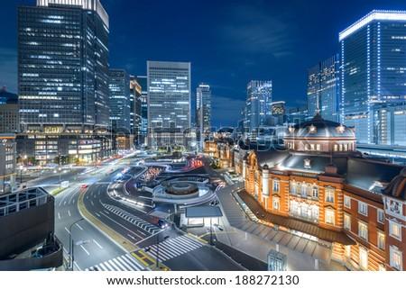Tokyo Station, Tokyo, Japan - stock photo