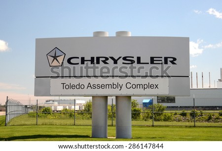 TOLEDO, OH - JUNE 2:  Fiat Chrysler will determine soon whether to keep building Jeeps at the Toledo Chrysler Assembly Plant, shown on June 2, 2015.  - stock photo