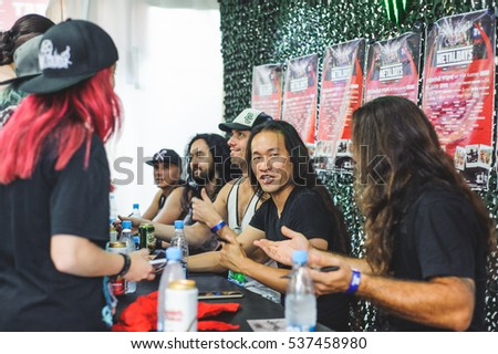 Tolmin slovenia july 29th british power stock photo royalty free tolmin slovenia july 29th british power metal band dragonforce on meetn m4hsunfo