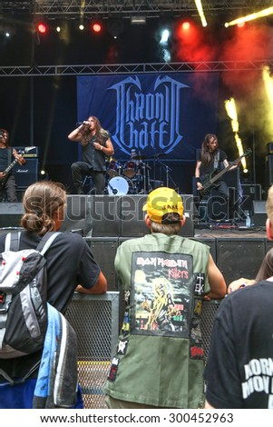TOLMIN, SLOVENIA - July 24: The italian Death Metal band Chronic hate perform live on the Metaldays Festival on July 24, 2015 in Tolmin, Slovenia.