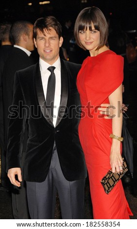 Tom Cruise and Katie Holmes, in Alexander McQueen, at A NIGHT TO BENEFIT RAISING MALAWI AND UNICEF hosted by Gucci, The United Nations, UN, New York, February 06, 2008 - stock photo