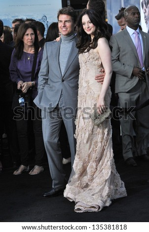 "Tom Cruise & Andrea Riseborough at the American premiere of their new movie ""Oblivion"" at the Dolby Theatre, Hollywood. April 10, 2013  Los Angeles, CA Picture: Paul Smith - stock photo"