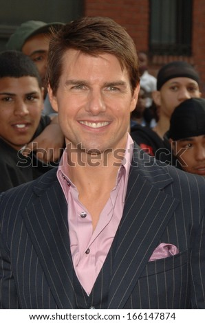 Tom Cruise at MISSION IMPOSSIBLE III Premiere, Magic Johnson Theaters in Harlem, New York, NY, May 03, 2006 - stock photo
