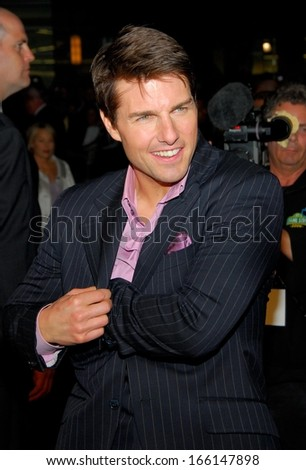 Tom Cruise at MISSION IMPOSSIBLE III Premiere, The Ziegfeld Theatre, New York, NY, May 03, 2006 - stock photo