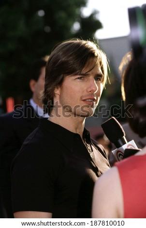 Tom Cruise at premiere of Mission Impossible 2, 5/00, LA, CA - stock photo