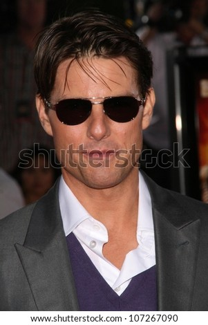 Tom Cruise  at the Los Angeles Premiere of 'Tropic Thunder'. Mann's Village Theater, Westwood, CA. 08-11-08 - stock photo