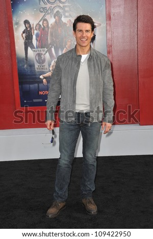 """Tom Cruise at the world premiere of his new movie """"Rock of Ages"""" at Grauman's Chinese Theatre, Hollywood. June 9, 2012  Los Angeles, CA Picture: Paul Smith / Featureflash - stock photo"""