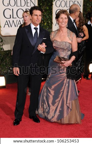 Tom Cruise with his mother Mary Lee Mapother at the 66th Annual Golden Globe Awards. Beverly Hilton Hotel, Beverly Hills, CA. 01-11-09