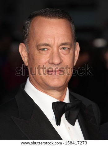 Tom Hanks arriving for the 'Captain Phillips' premiere on the opening night of the 57th BFI London Film Festival at Odeon Leicester Square, London. 09/10/2013