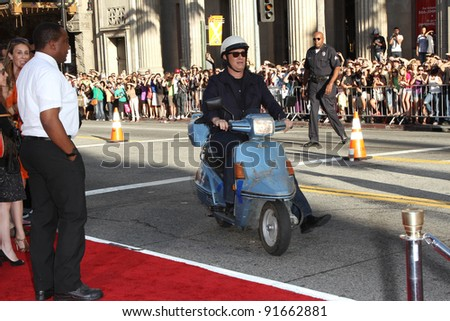 """Tom Hanks at the """"Larry Crowne"""" World Premiere, Chinese Theater, Hollywood, CA. 06-27-11 - stock photo"""