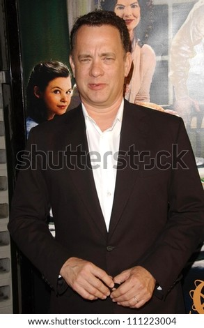 """Tom Hanks at the season premiere of """"Big Love"""". The Cinerama Dome, Hollywood, CA. 06-07-07 - stock photo"""