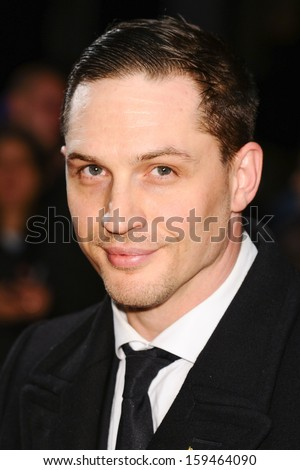 "Tom Hardy arrives for the premiere of ""Locke"" which is being screened at the Odeon West End as part of the bfi London Film Festival 2013, London. 18/10/2013 - stock photo"