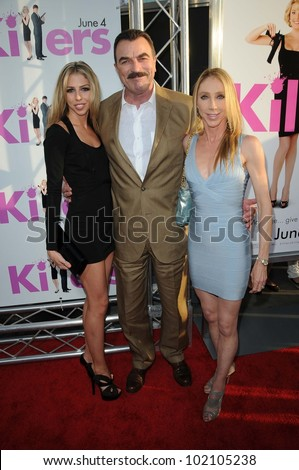 "Tom Selleck and Jillie Mack and Daughter Hannah Margaret Mack Selleck at the ""Killers"" Los Angeles Screening, Cinerama Dome, Hollywood, CA. 06-01-10"