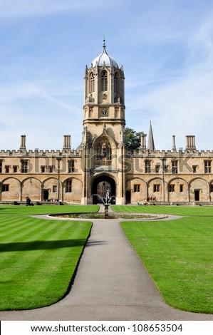 Tom Tower of Christ Church, Oxford University - stock photo