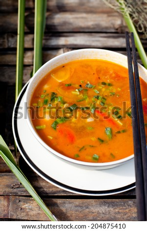 Tom yam hot spicy soup - stock photo