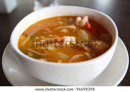 Spicy Thai Soup Spicy Prawn Soup With