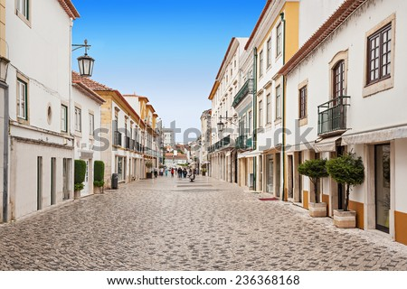 Tomar city center, Santarem District in Portugal - stock photo